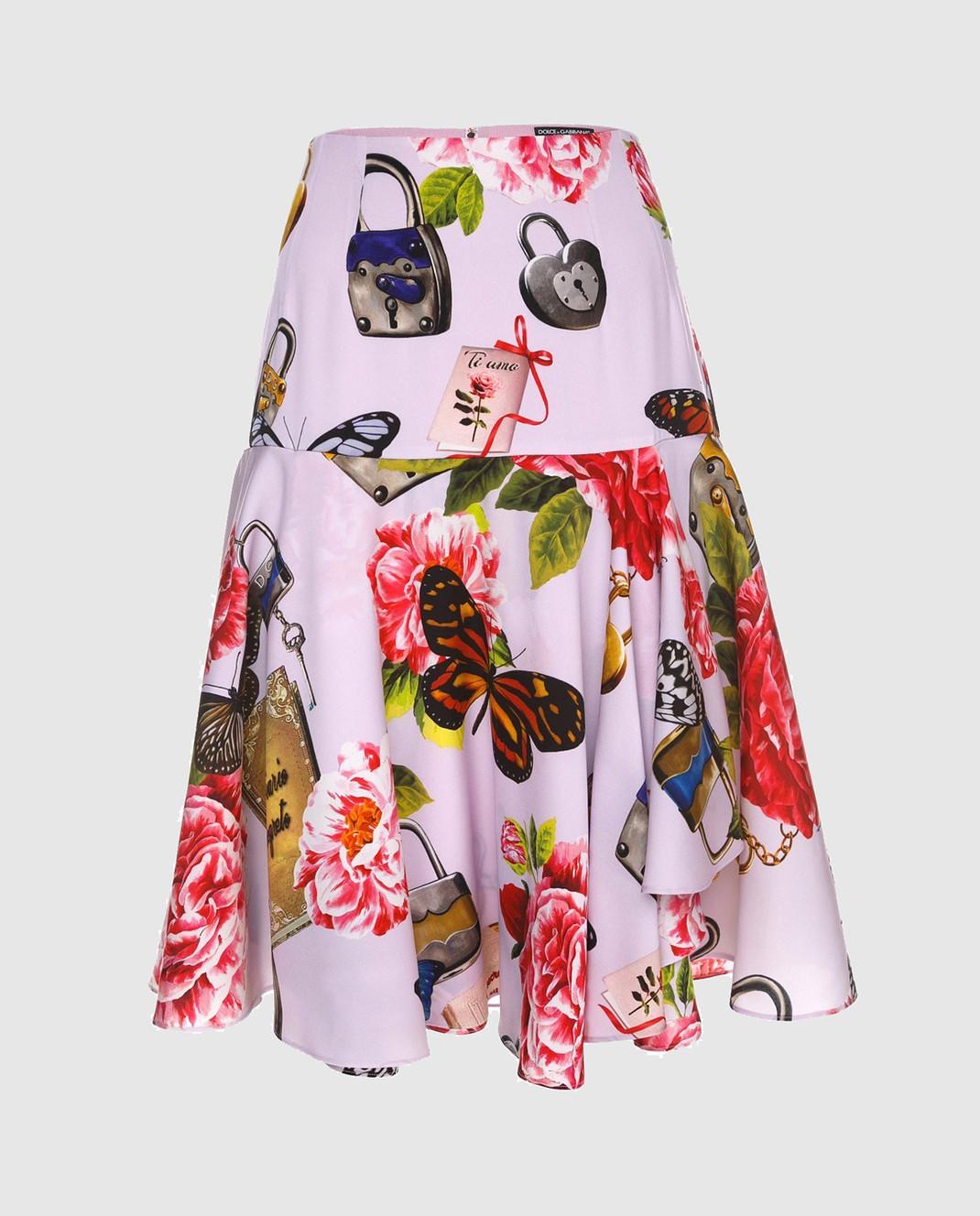 Dolce&Gabbana Юбка из шелка F4A8LTFSAUD