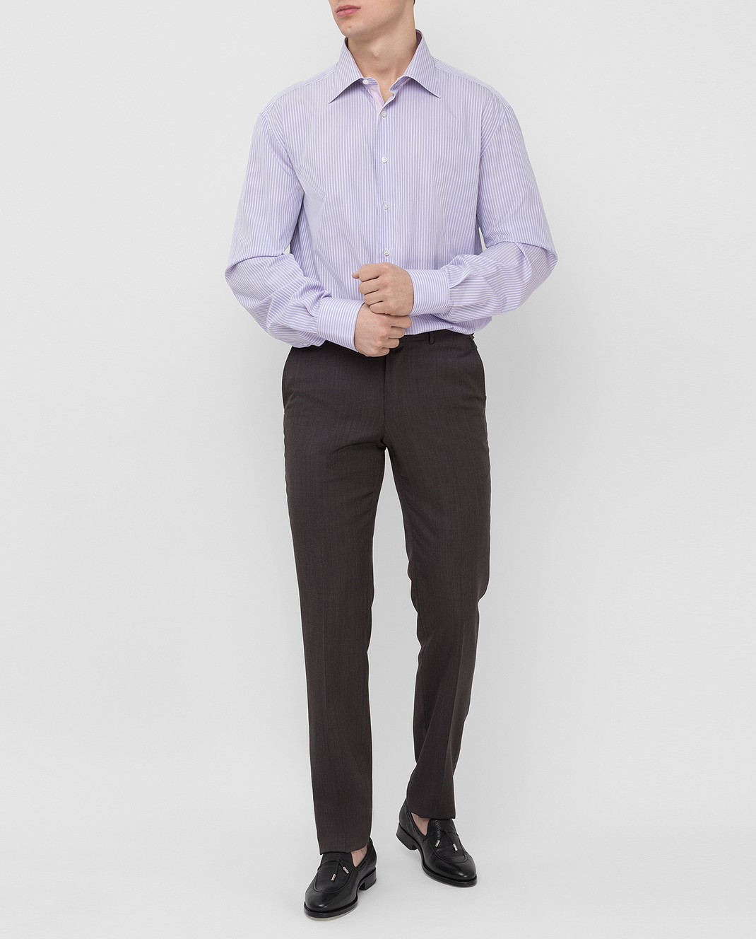 Stefano Ricci Сиреневая рубашка MC000872 изображение 2