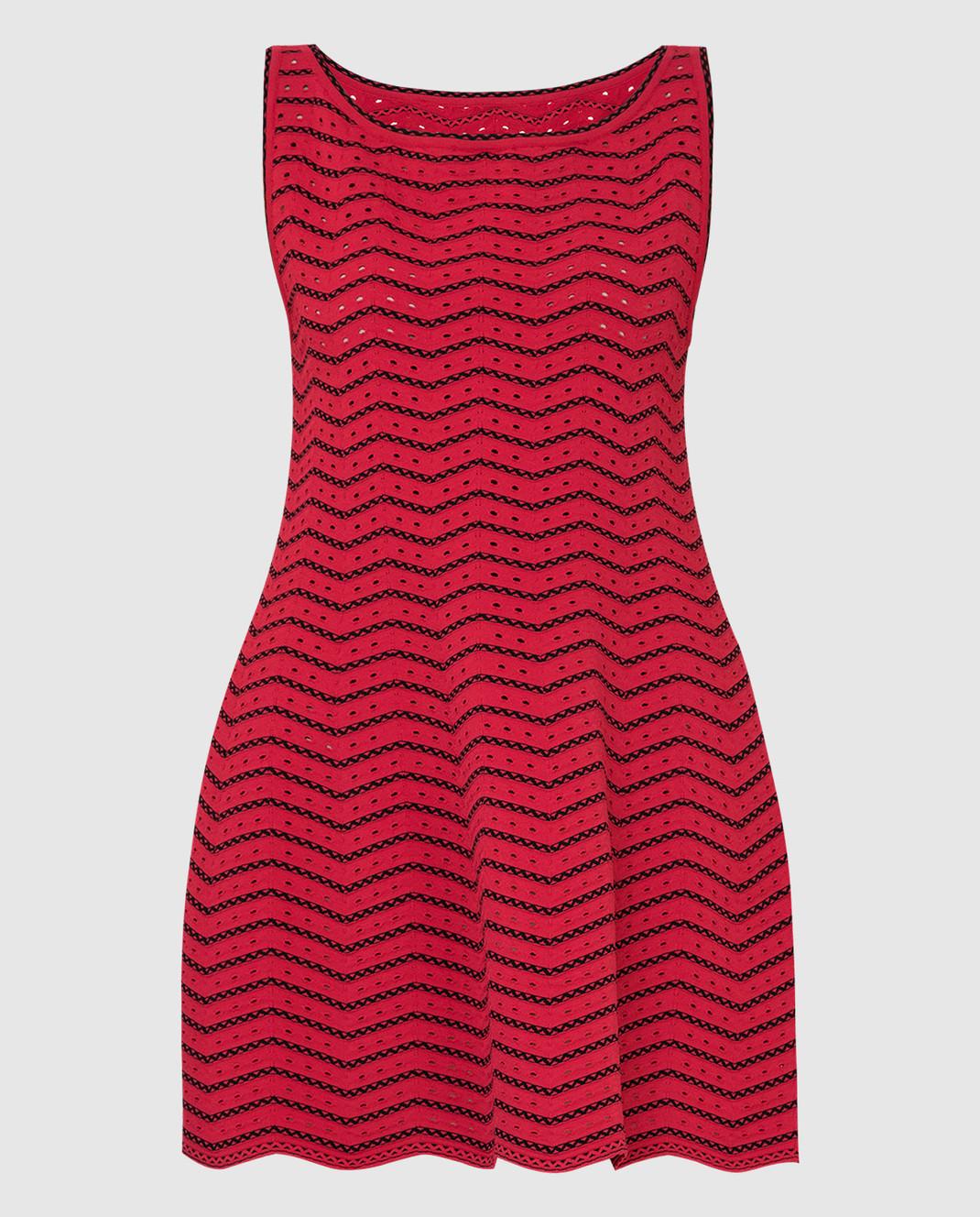 Azzedine Alaia Красное платье 6E9UC86RM224
