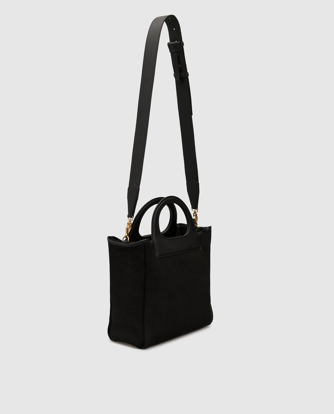 Max Mara Черная замшевая сумка GRACEXS изображение 3