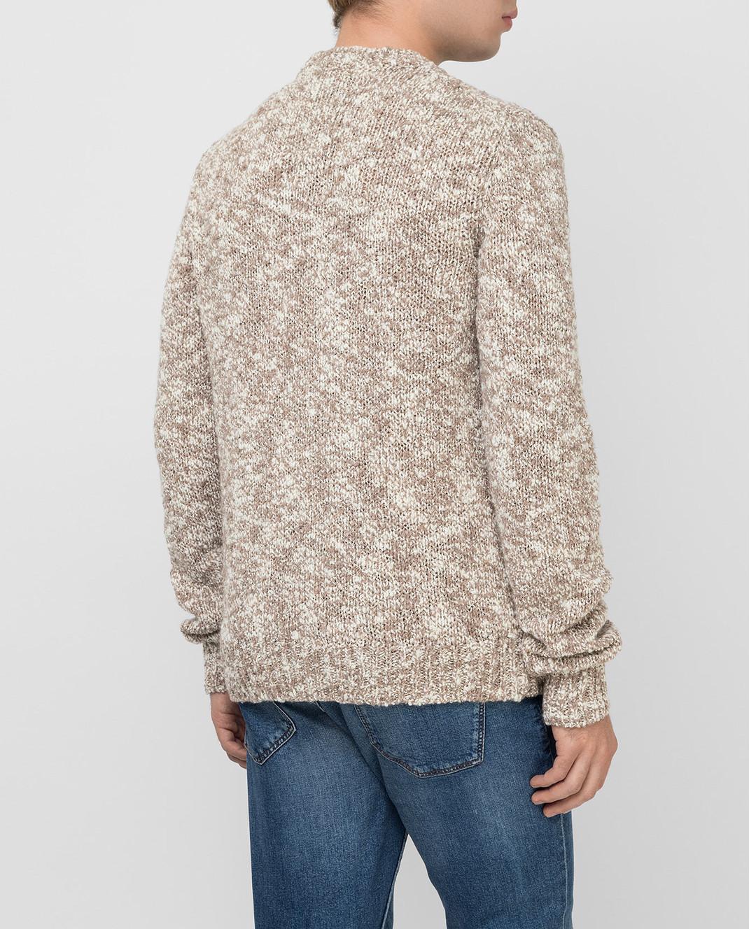 Dolce&Gabbana Бежевый свитер из шерсти изображение 4