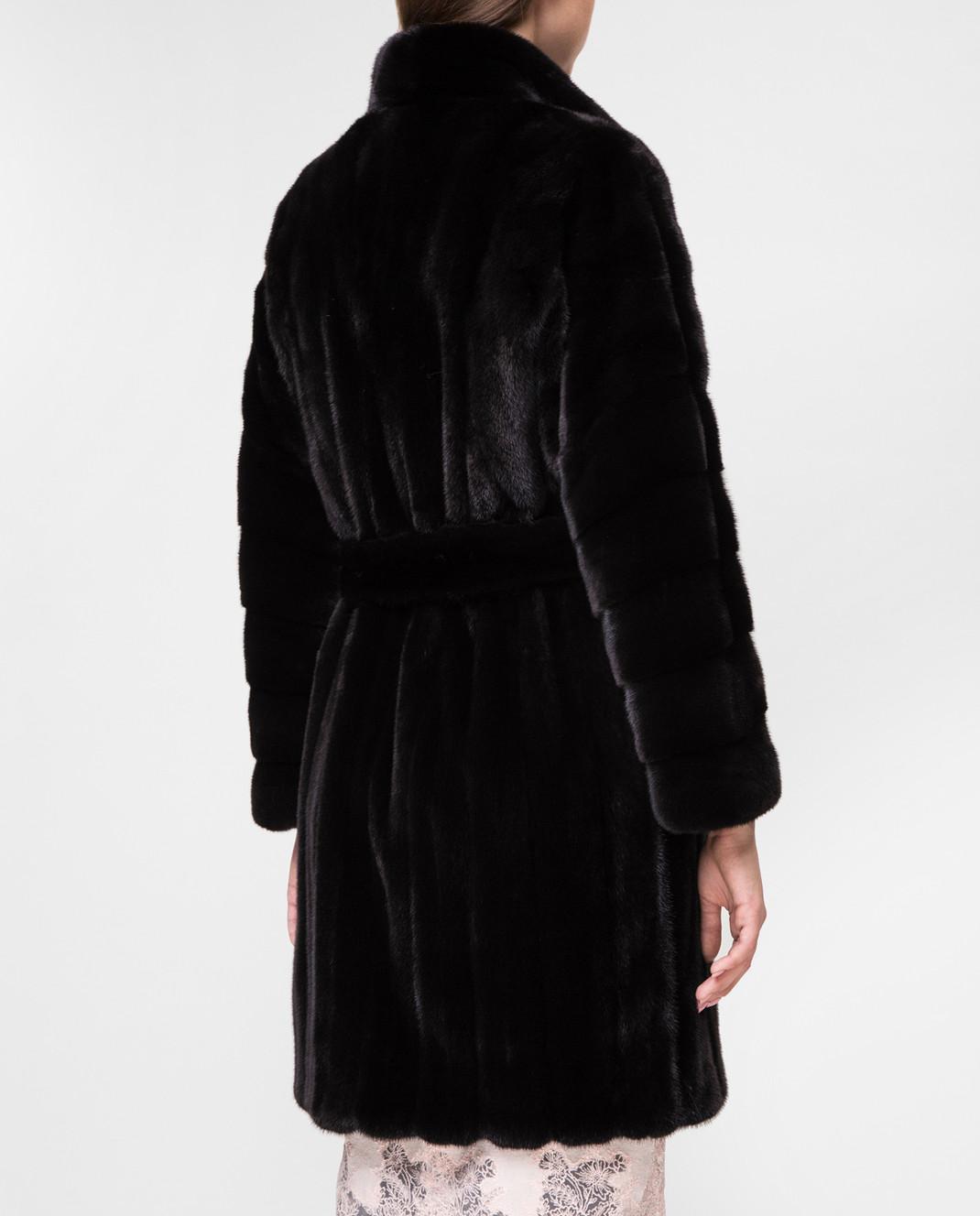 Real Furs House Черное меховое пальто TB5253842 изображение 4