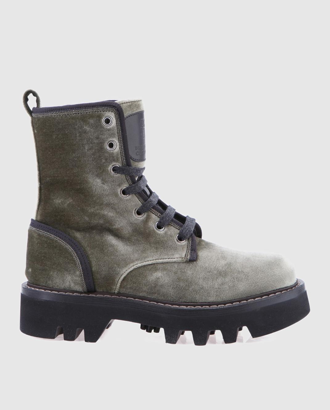 Brunello Cucinelli Зеленые ботинки MZ72G1002