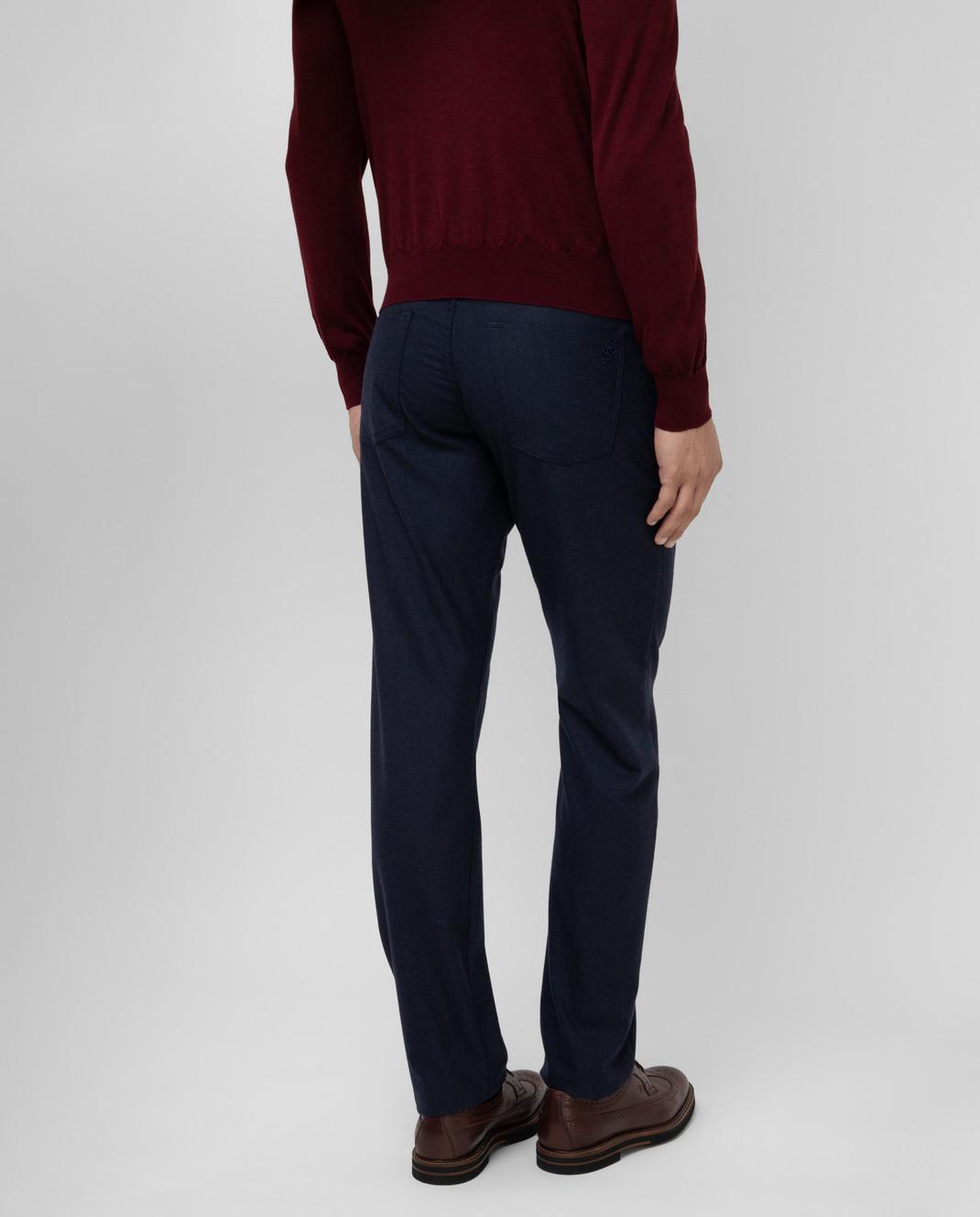 Scissor Scriptor Темно-синие брюки из шерсти изображение 4
