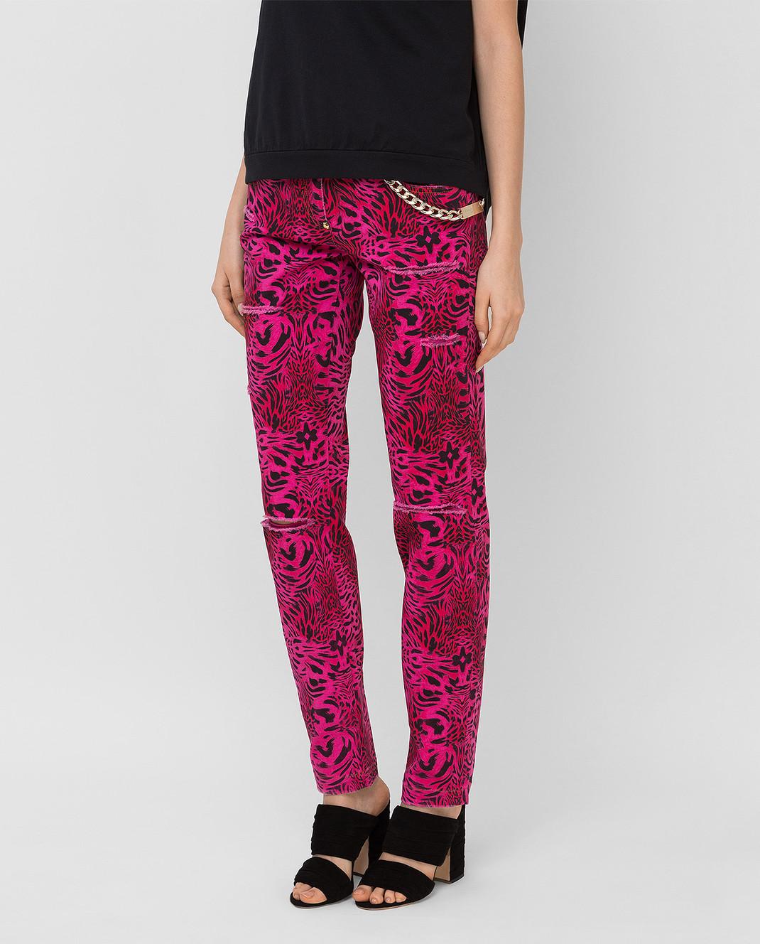 Philipp Plein Розовые джинсы CWDT0208 изображение 3