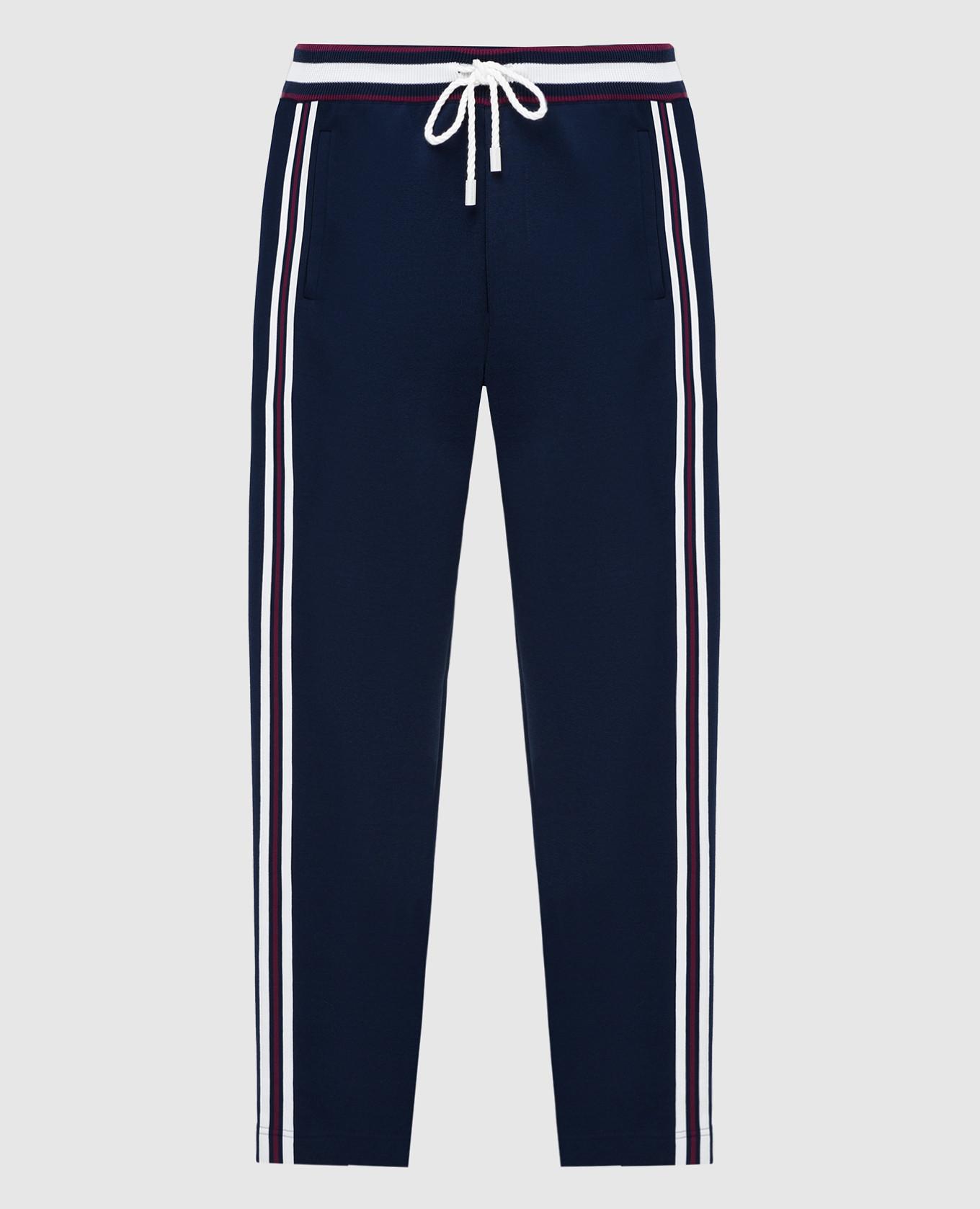 Темно-синие спортивные брюки