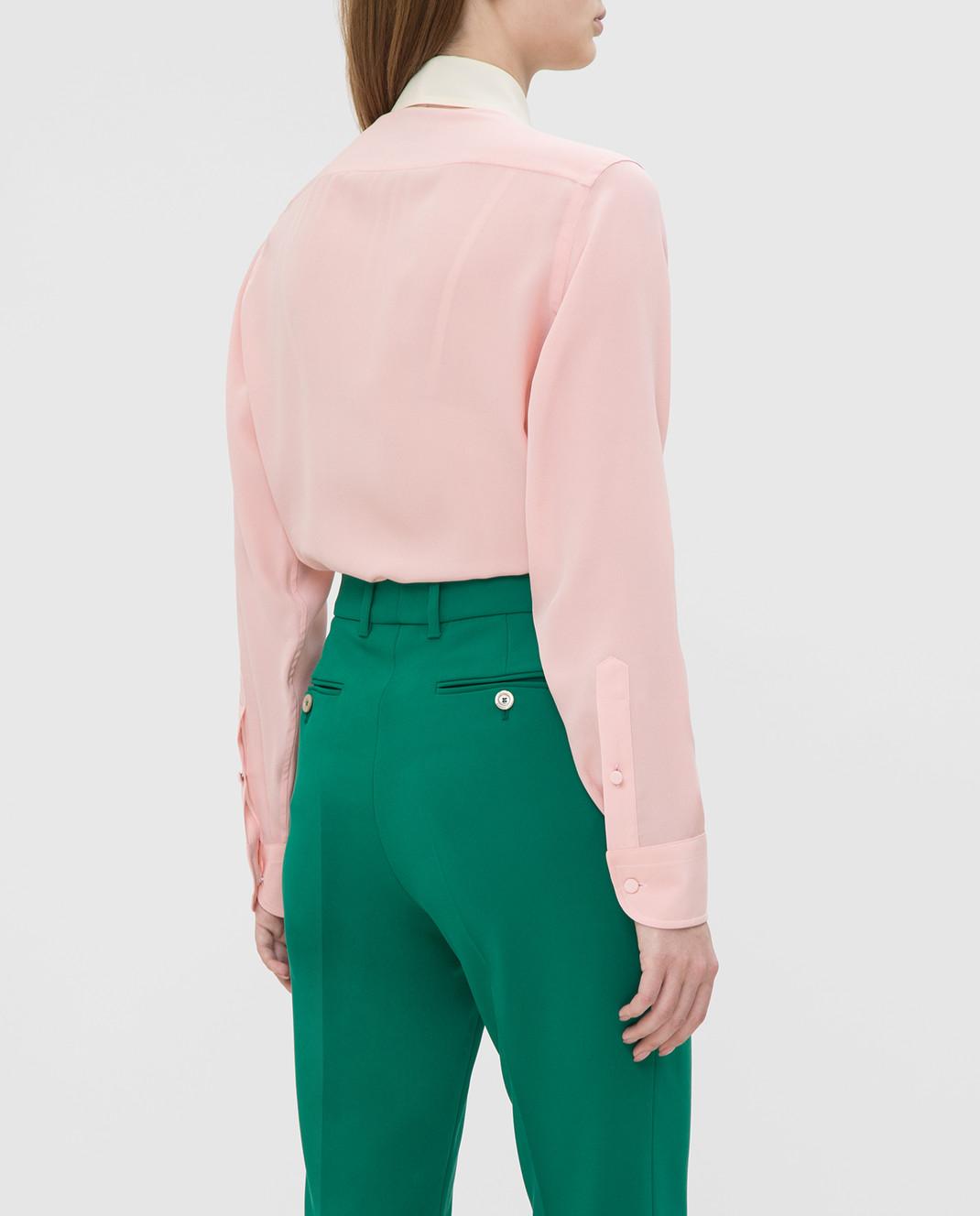 Gucci Розовая рубашка из шелка 544892 изображение 4