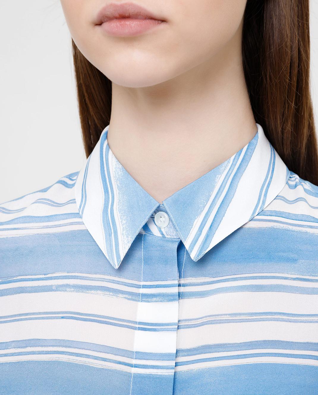 Altuzarra Голубая рубашка из шелка изображение 5