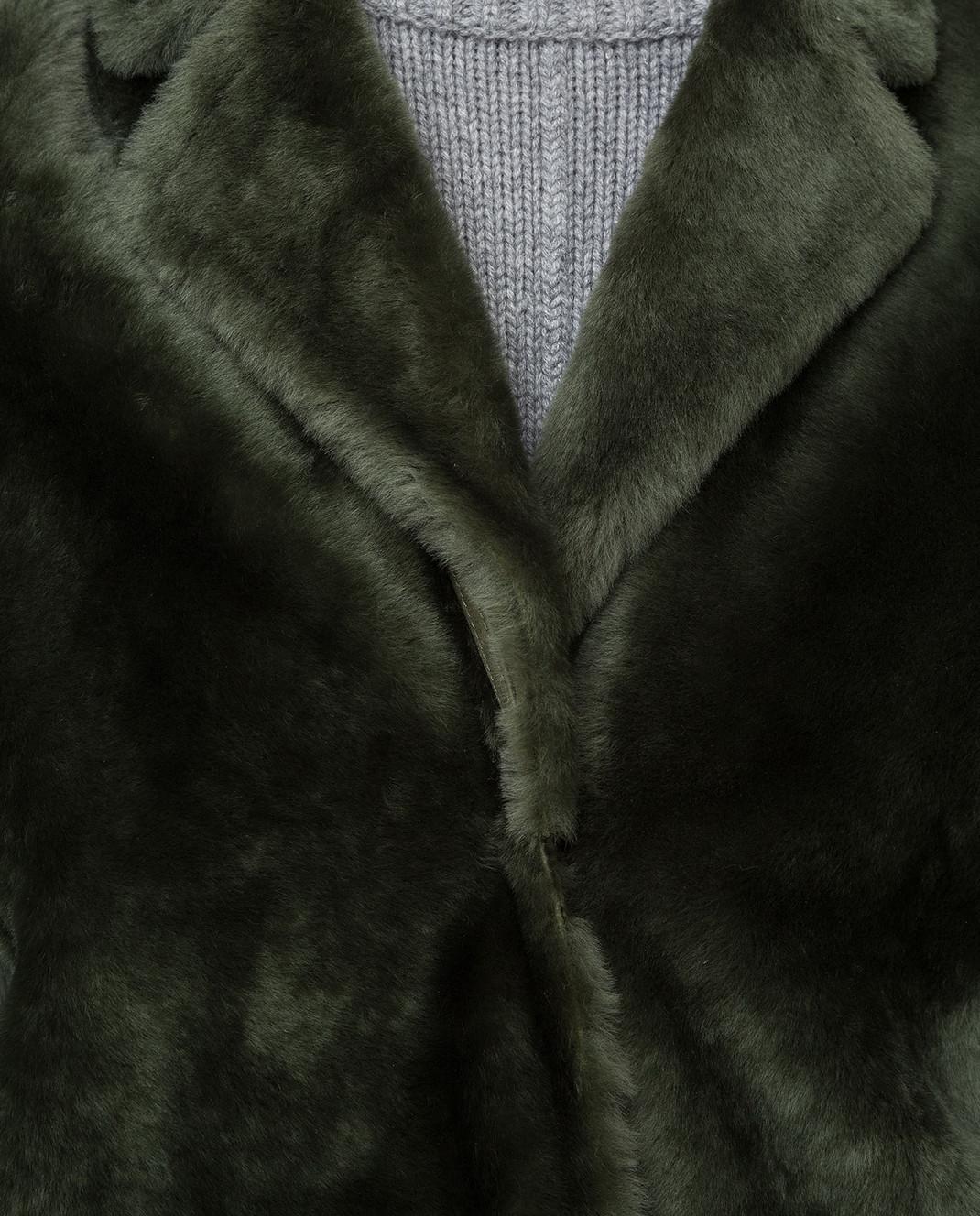 Yves Salomon Зеленая шуба изображение 5