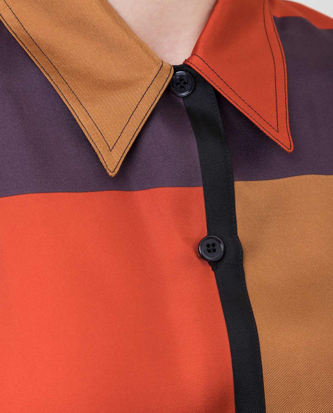 Bottega Veneta Коричневая рубашка из шелка 538599 изображение 5