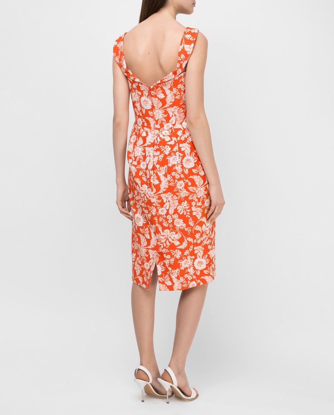 Zac Posen Оранжевое платье 23547753 изображение 4