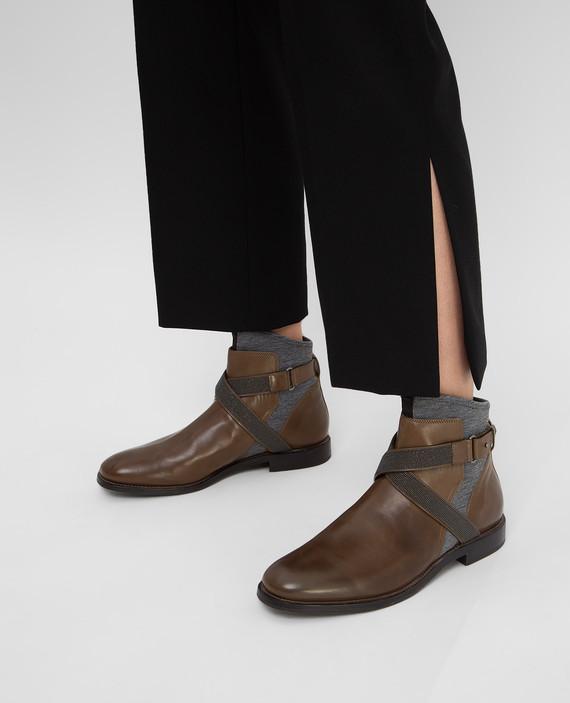 Кожаные ботинки hover
