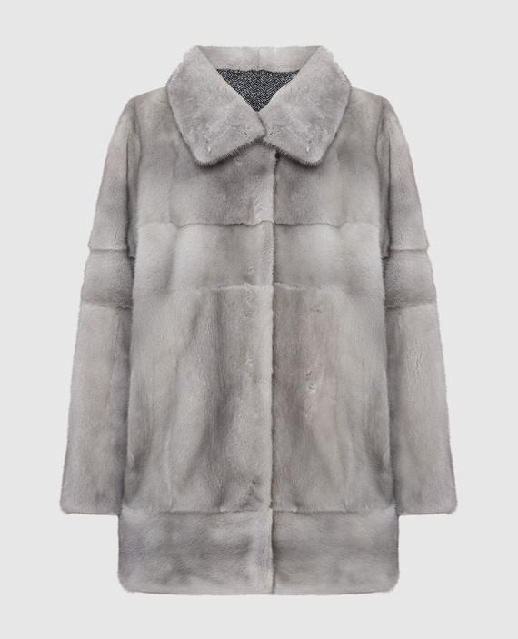 Двухстороннее пальто с мехом норки