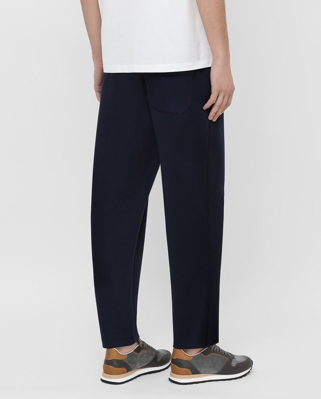 Moncler Темно-синие спортивные брюки 1146600829FC изображение 4