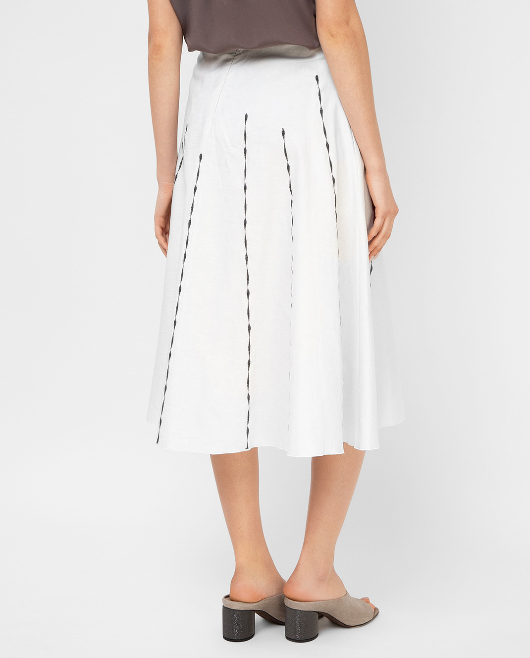 Bottega Veneta Светло-серая юбка 448808 изображение 4