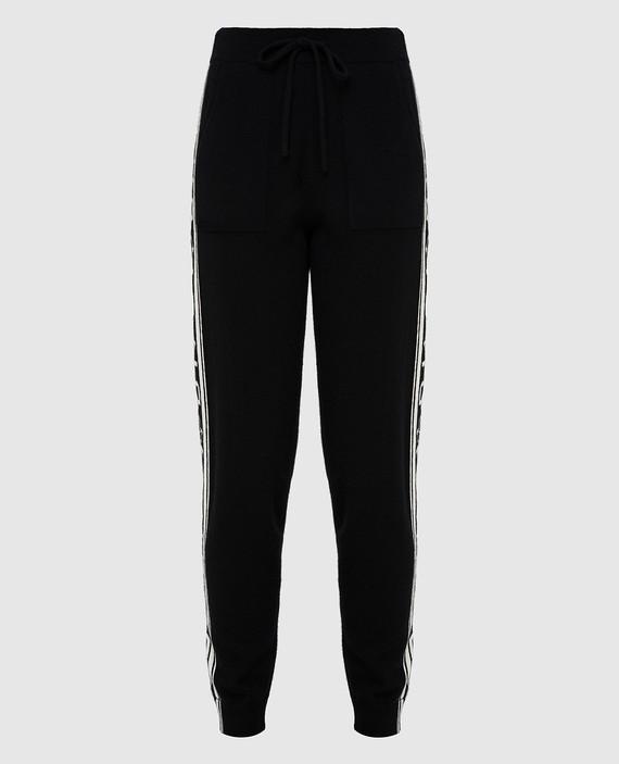 Черные брюки из кашемира