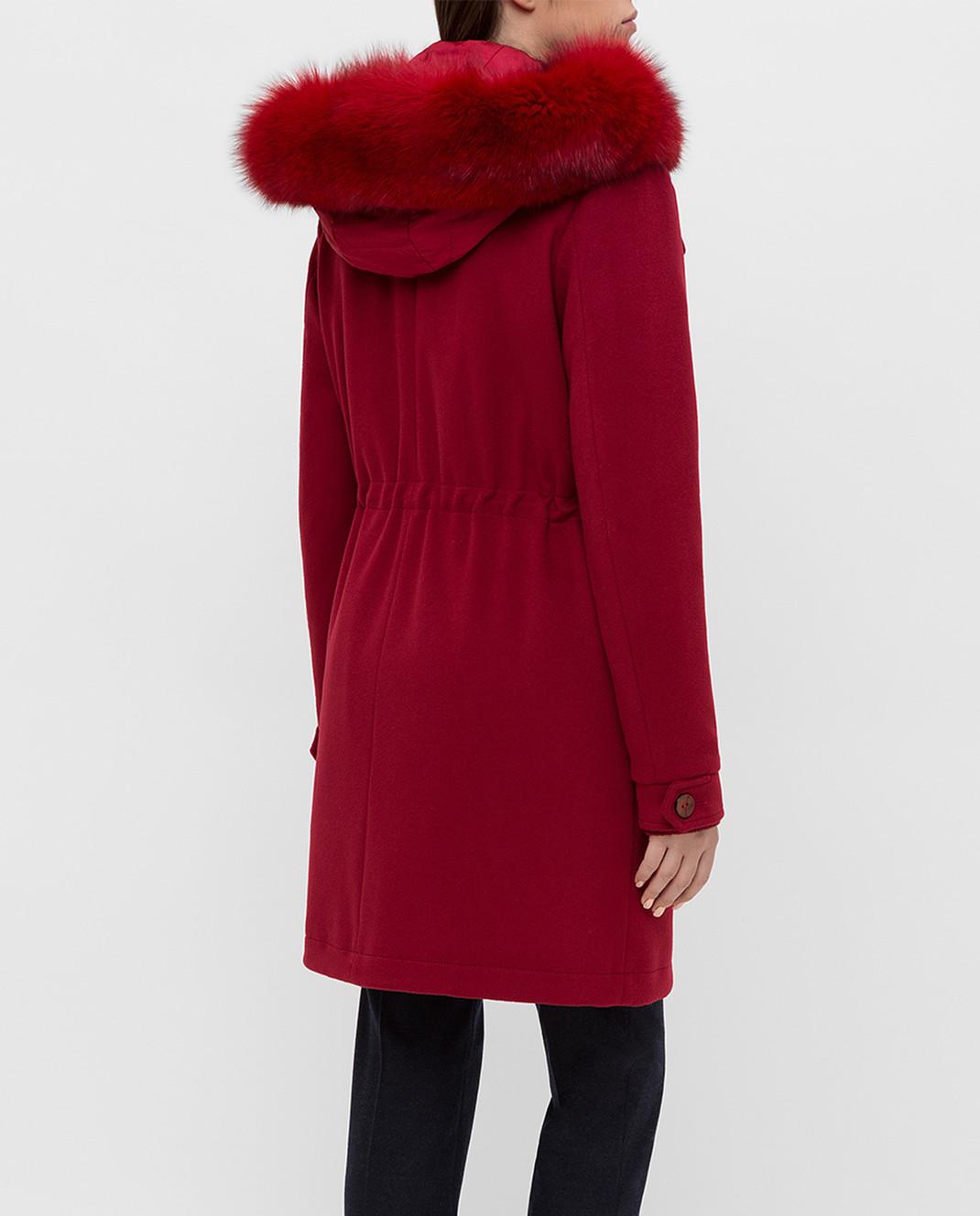 Heresis Красное пальто из шерсти P1290VO изображение 4