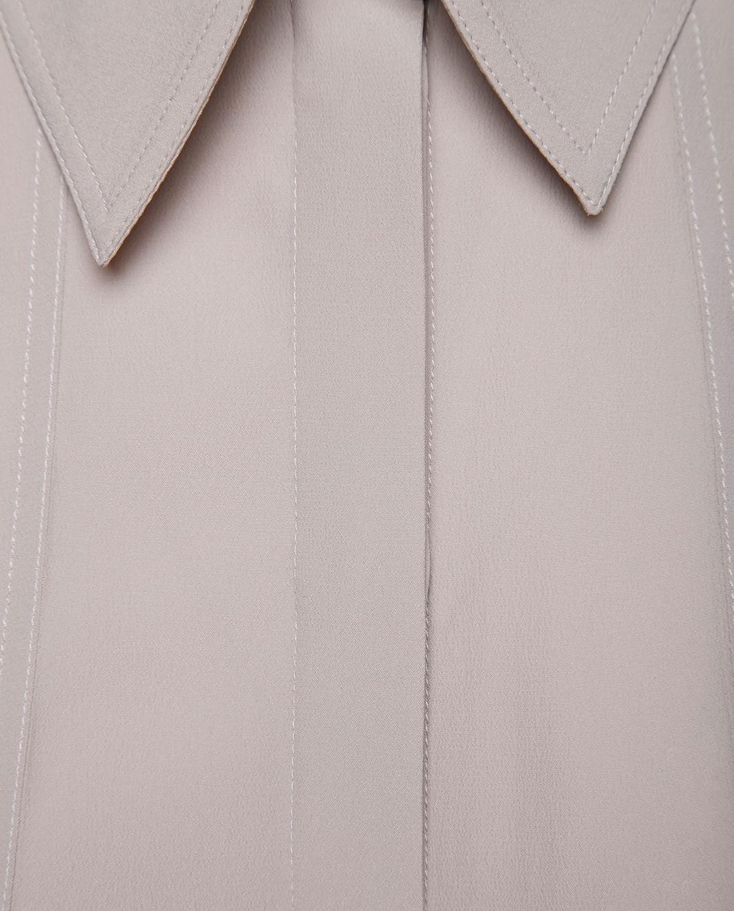 NINA RICCI Серая блуза 18PCTO002AC0109 изображение 5