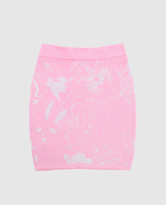Детская розовая юбка hover