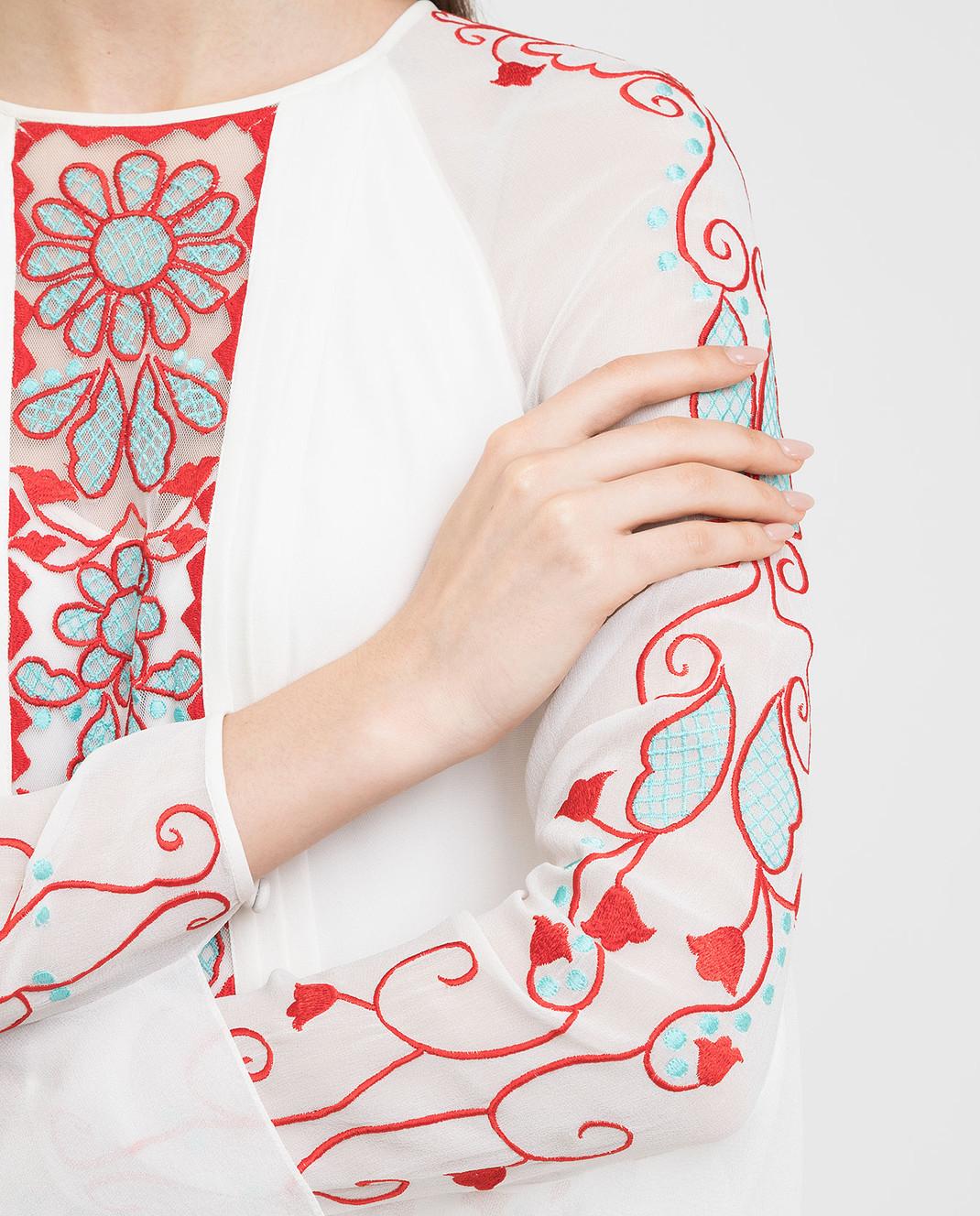 Temperley London Белое платье из шелка 16S73650959 изображение 5