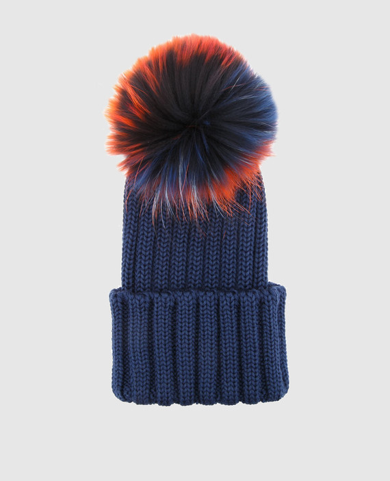 Детская темно-синяя шапка