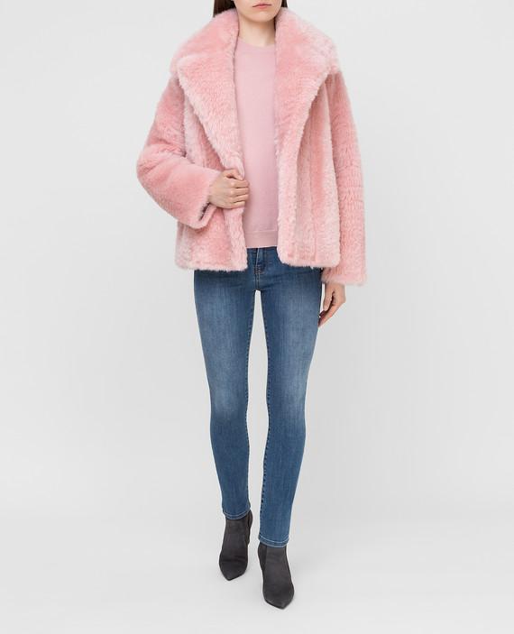 Розовая шуба hover