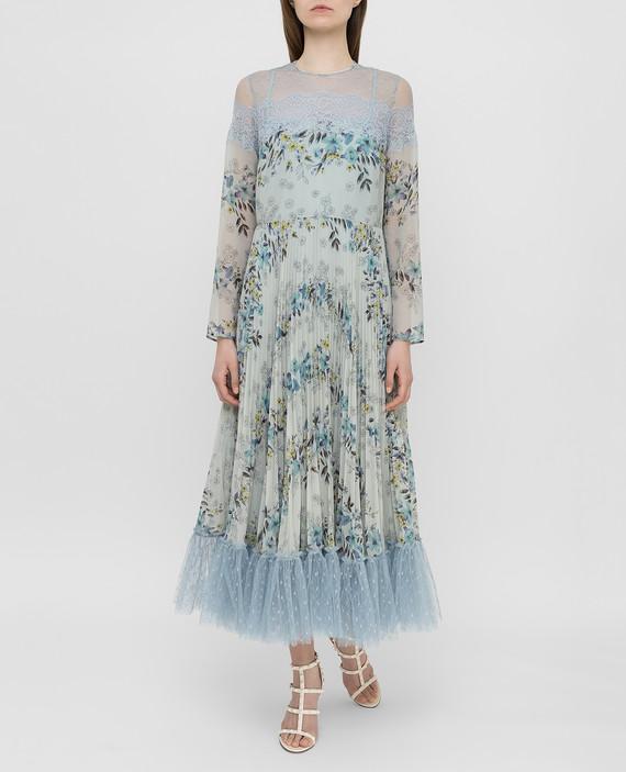 Мятное платье hover