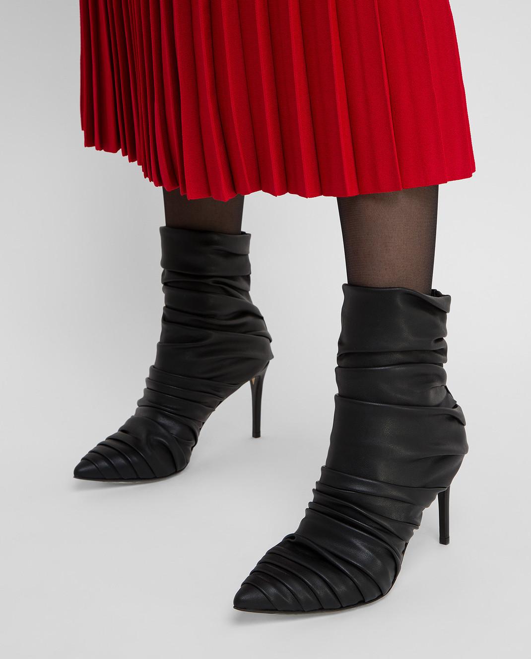 Alevi Milano Черные кожаные ботильоны изображение 2