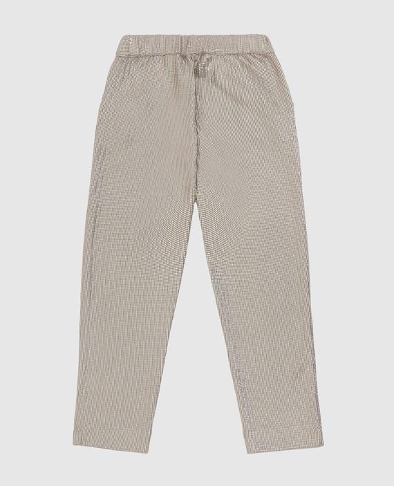 Детские бежевые брюки hover
