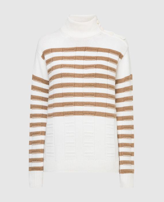 Белый свитер из кашемира