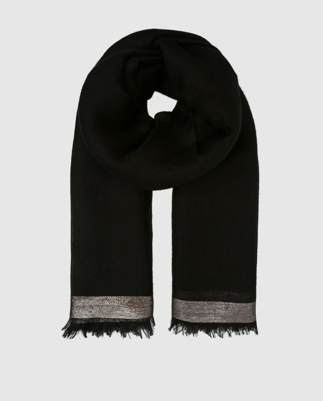 Loro Piana Черный платок F3FAF4532
