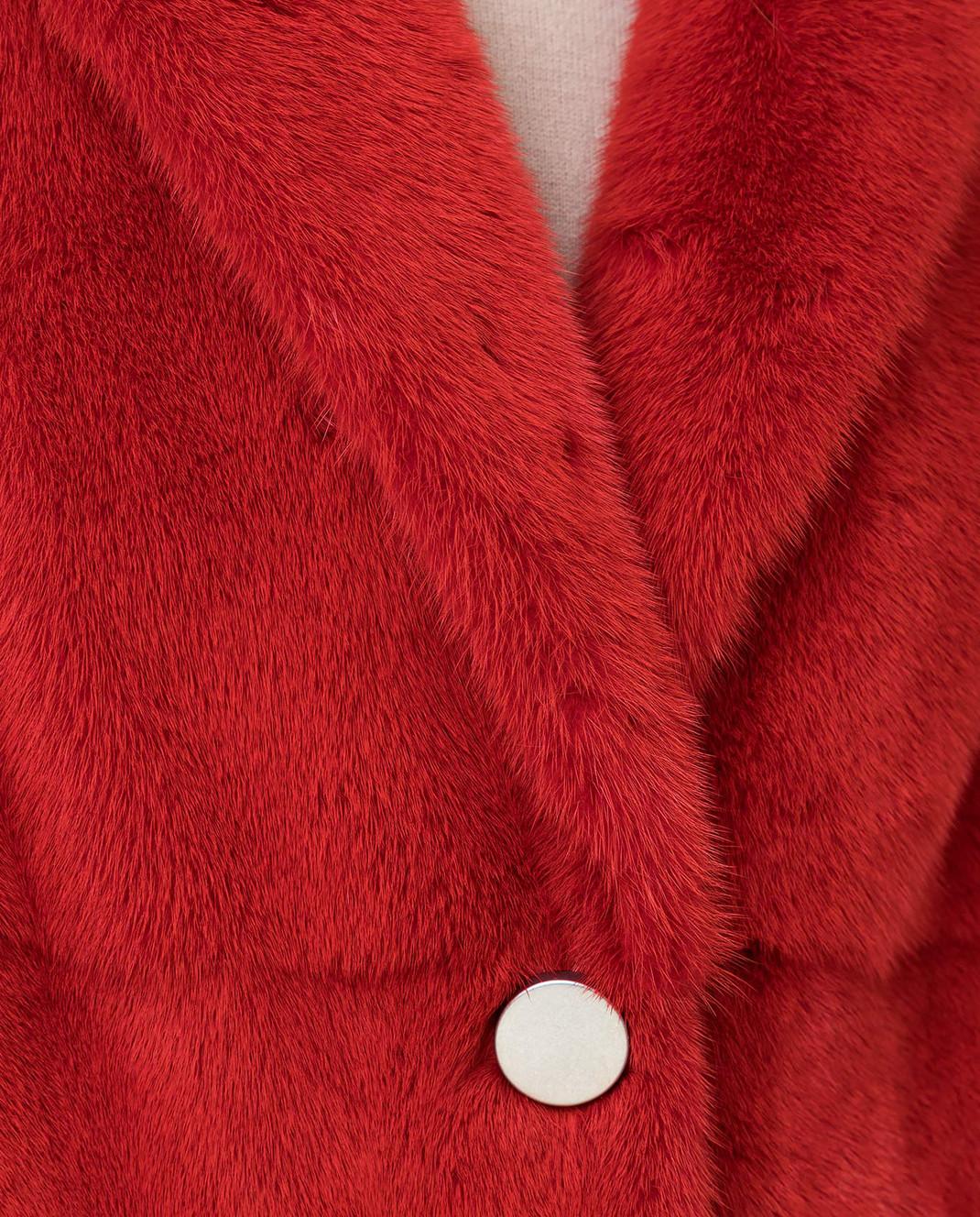 Fabio Gavazzi Красная шуба из меха норки изображение 5