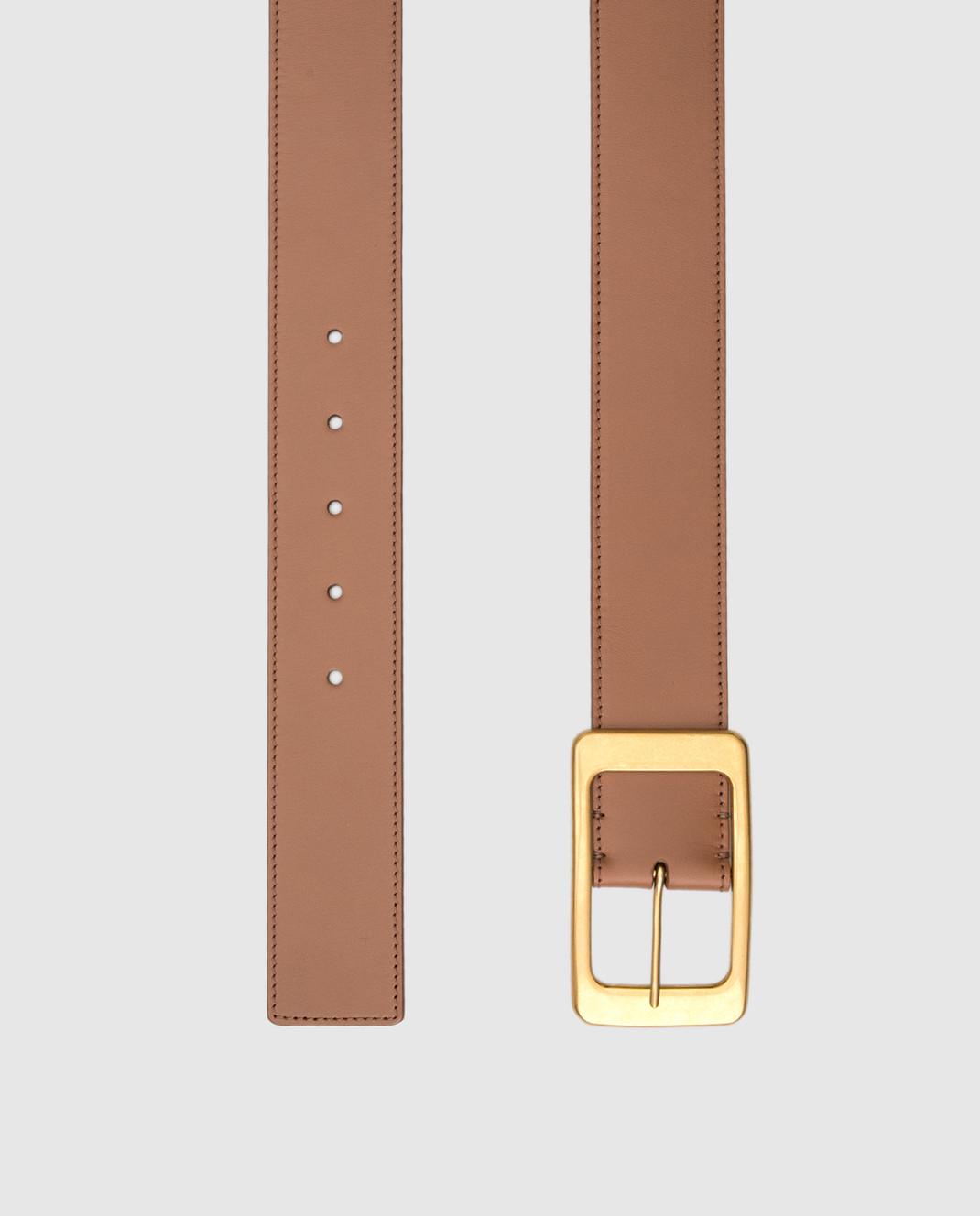 Loro Piana Коричневый кожаный ремень изображение 3