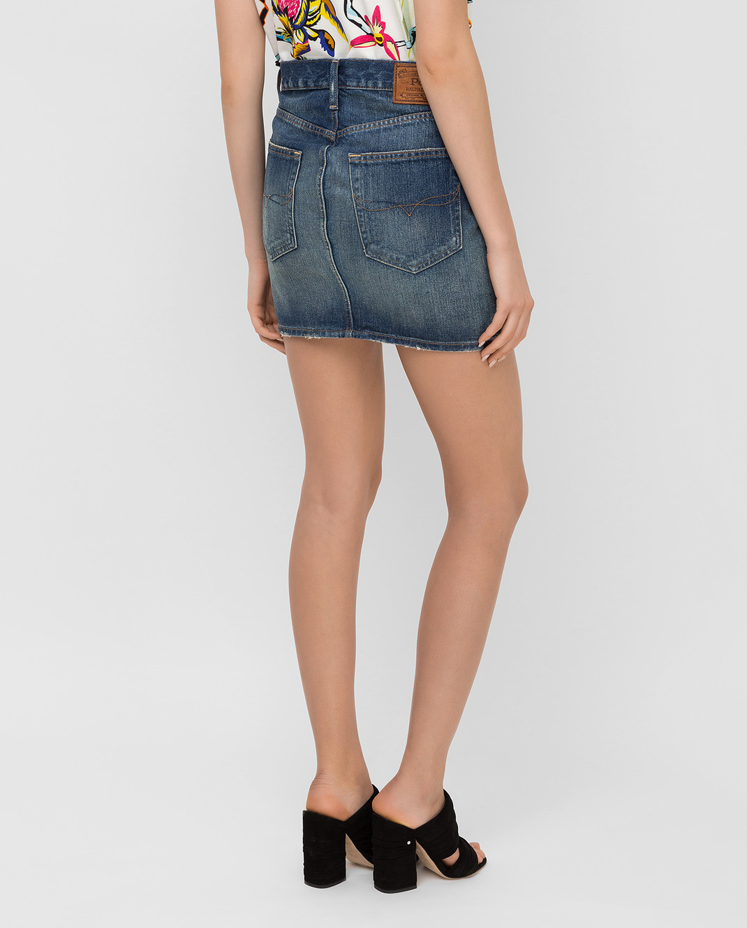 Ralph Lauren Синяя джинсовая юбка V60IH924 изображение 4