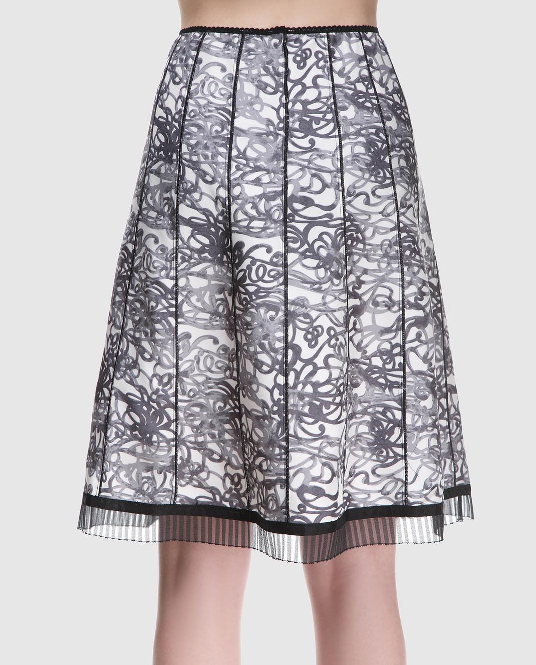 Marc Jacobs Черная юбка из шелка с принтом M4007179 изображение 3