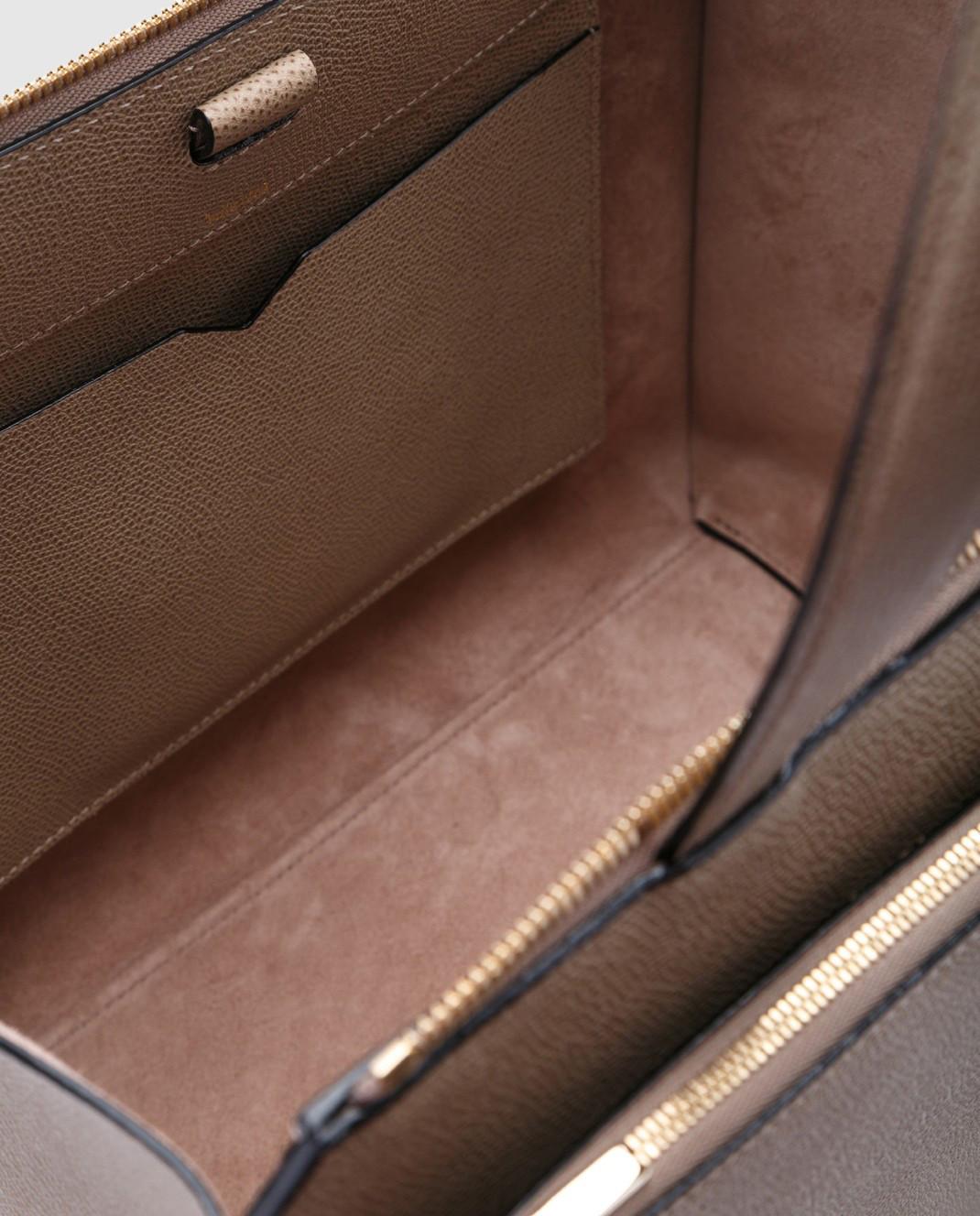Valextra Бежевая сумка из кожи V5F31 изображение 4