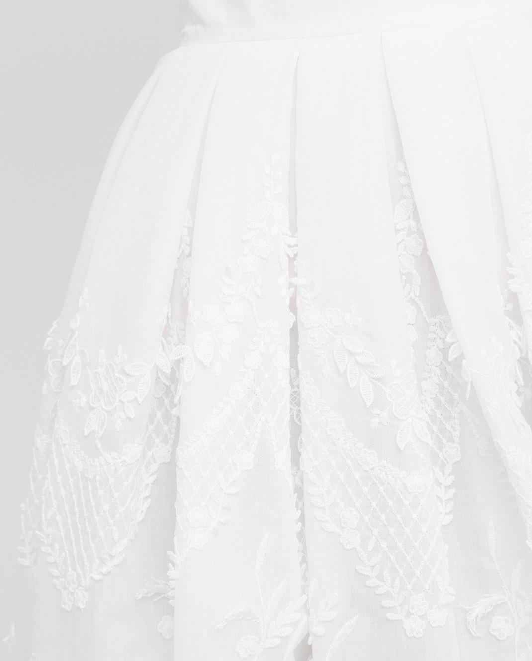 Ermanno Scervino Белая юбка D282O310AMX изображение 5