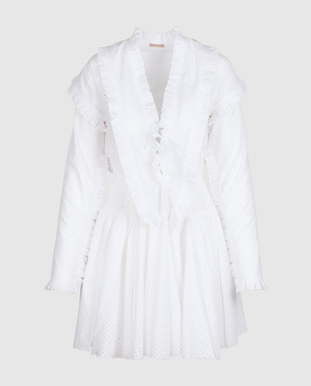 Azzedine Alaia Белое платье 7S9R054RTL48