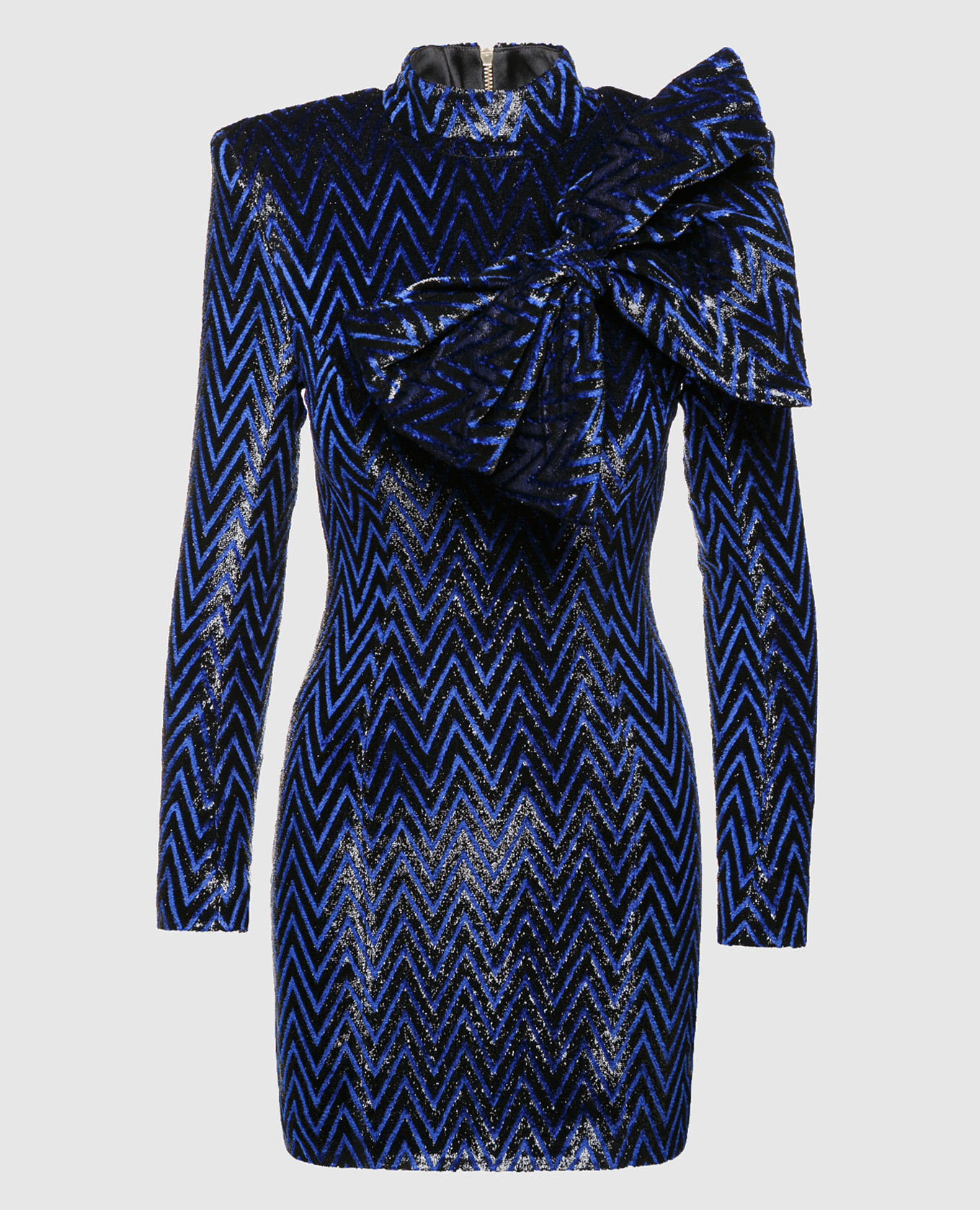 Синее платье с блестками