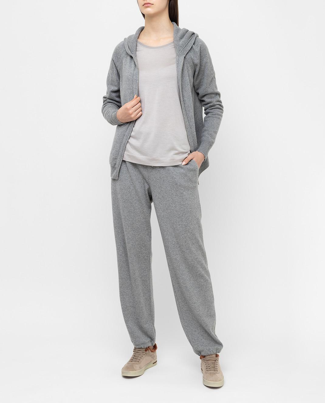 Loro Piana Серый джемпер из кашемира и шелка F2FAE5730 изображение 2