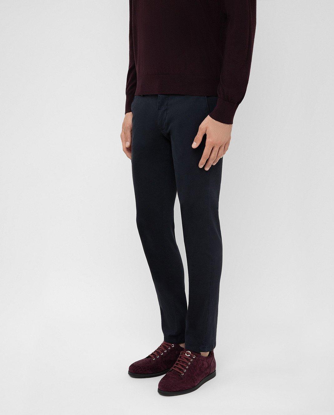 Fradi Темно-синие брюки изображение 3