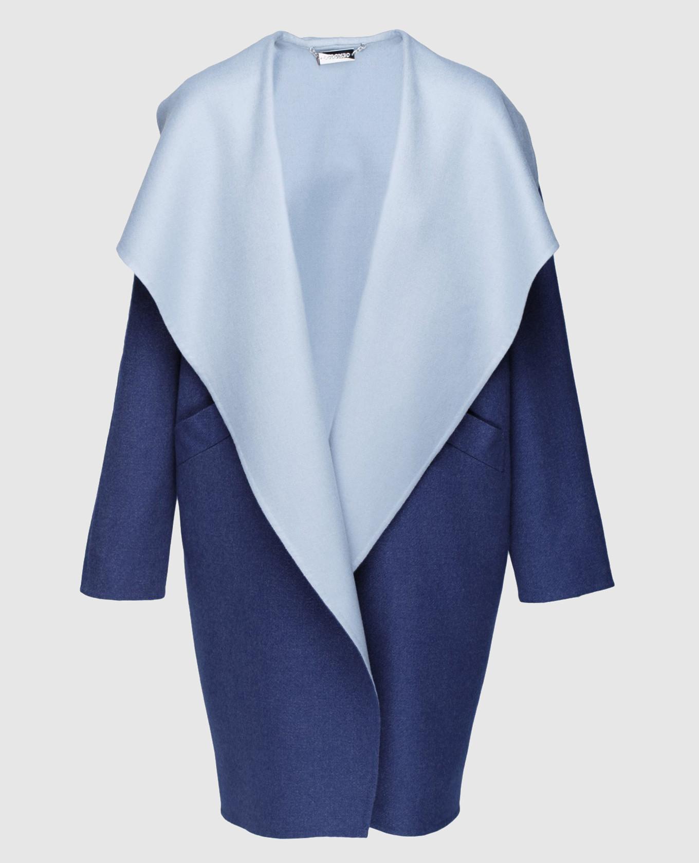 Синий кардиган из кашемира