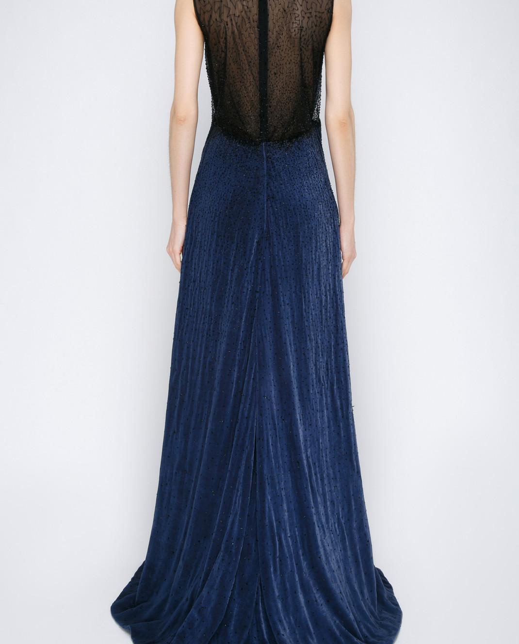 Dennis Basso Синее платье 13508 изображение 4