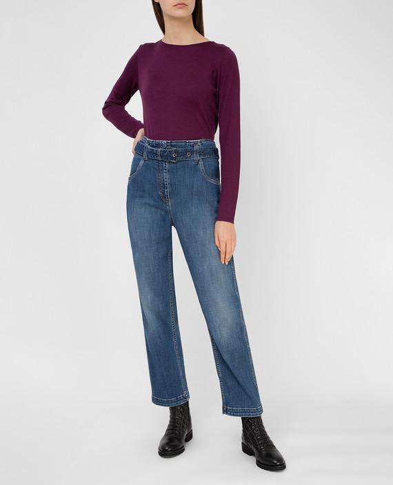 Фиолетовый джемпер из кашемира и шелка hover