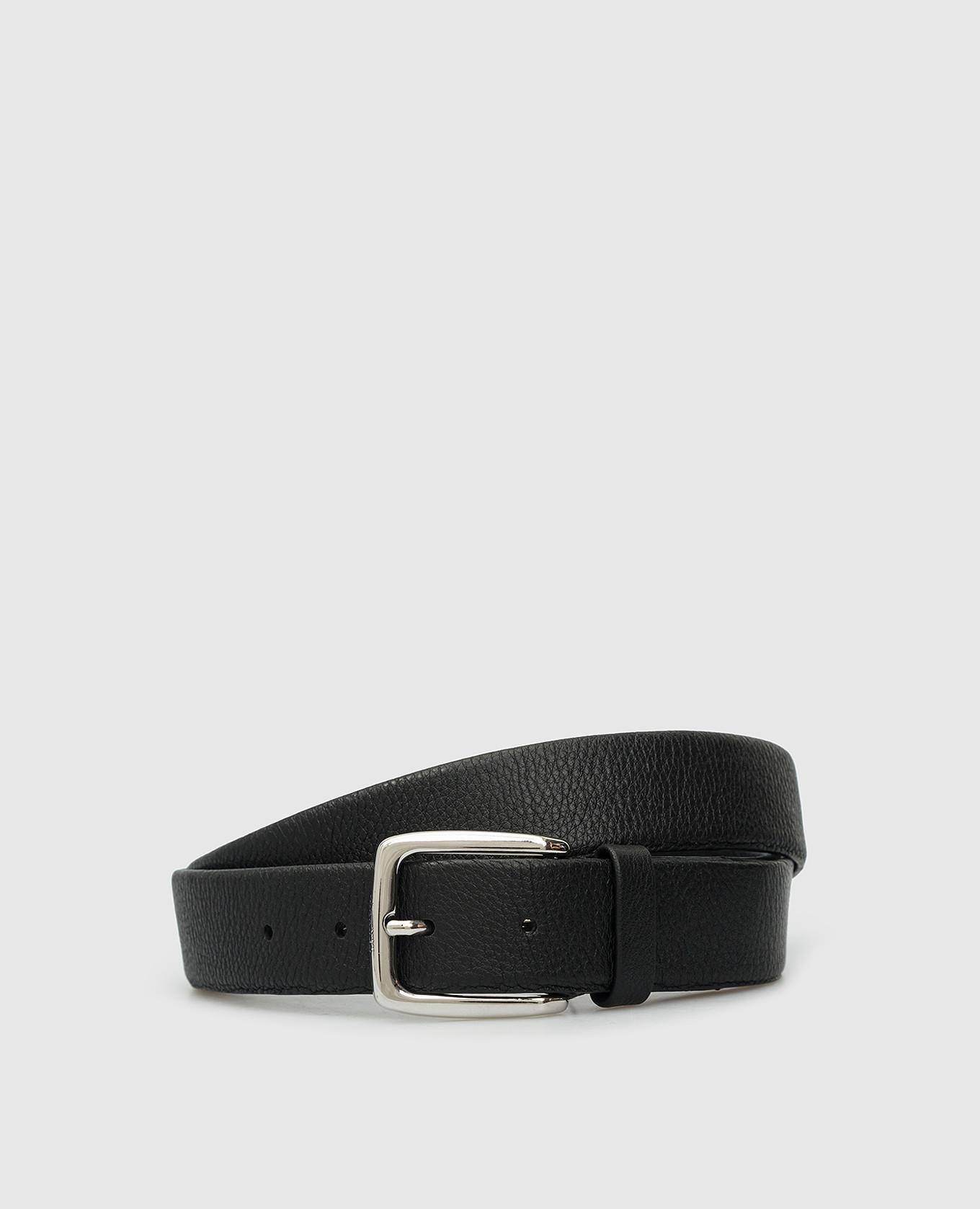 Черный кожаный ремень Tivoli MooRER