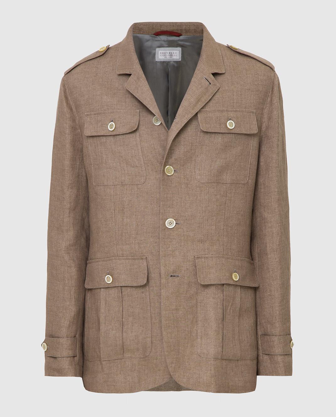 Brunello Cucinelli Коричневая куртка MD4176849