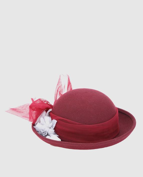Детская бордовая шляпа
