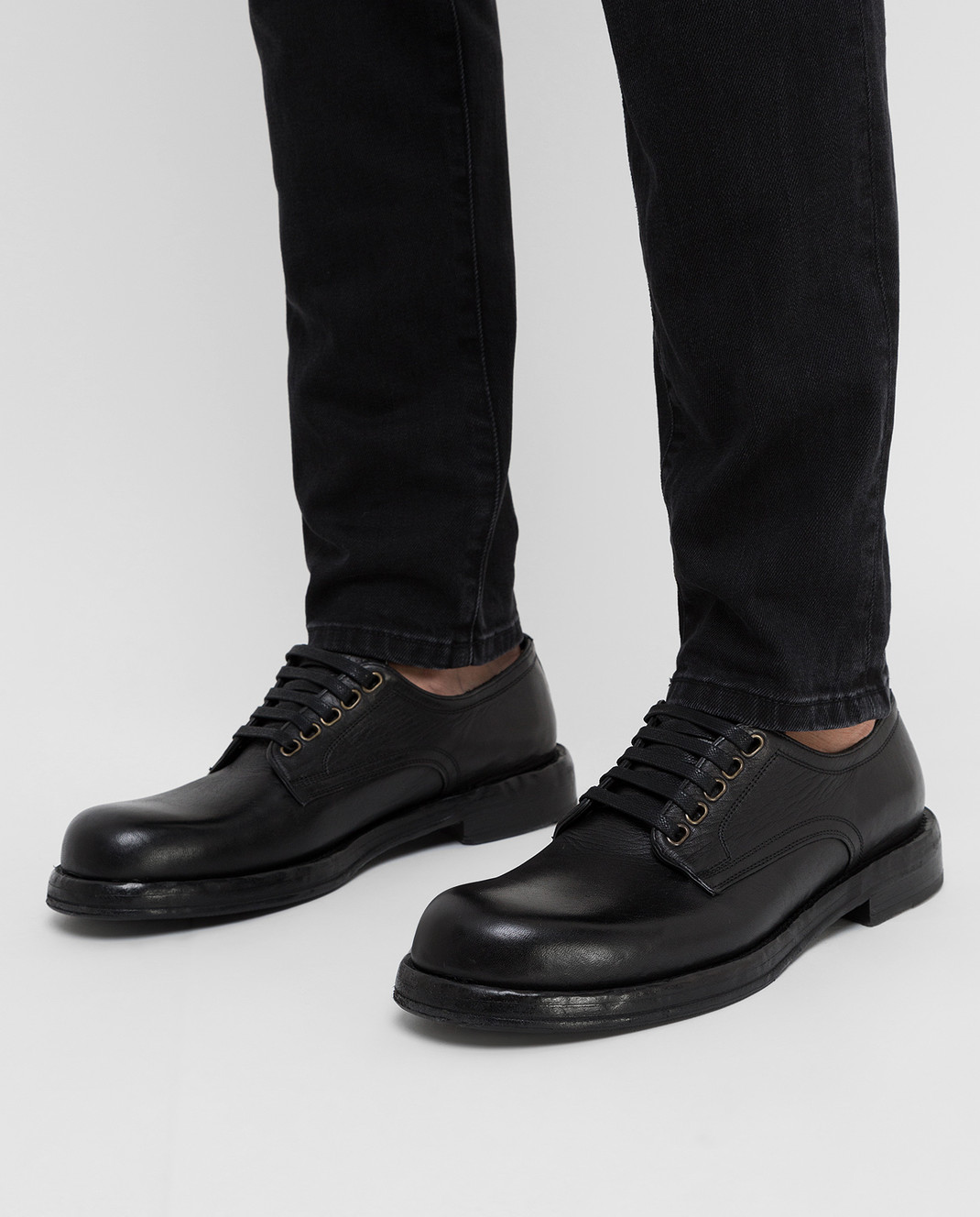 Dolce&Gabbana Черные кожаные дерби изображение 2