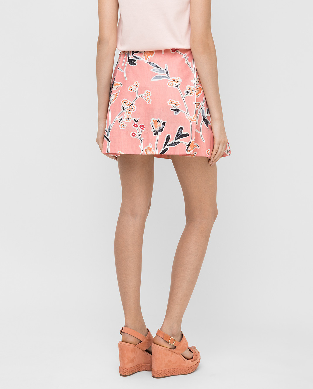 Marni Розовая юбка GOMAR35A00TCR58 изображение 4