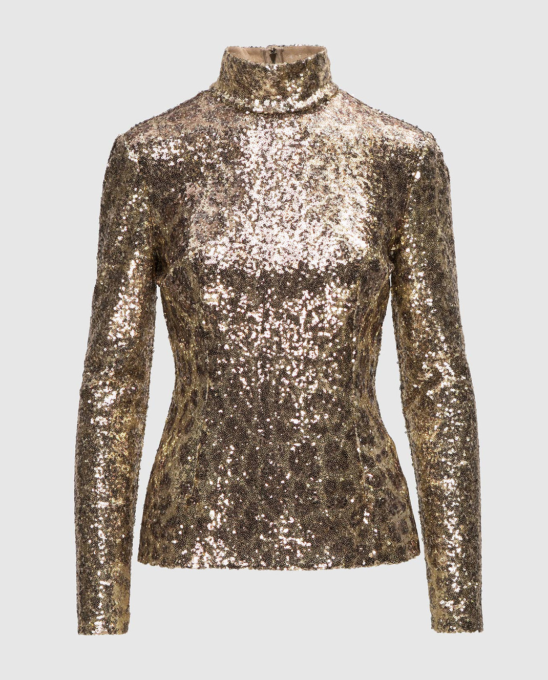 Dolce&Gabbana Золотистая блуза F72S3THSMTE